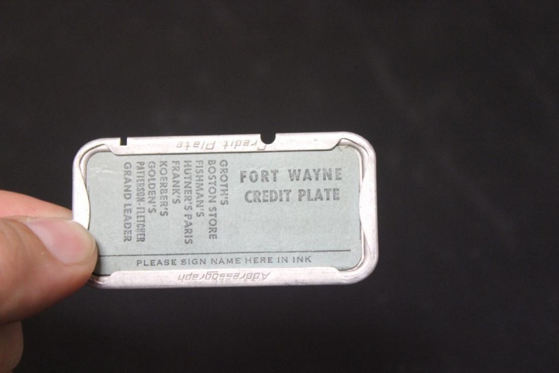 A Fort Wayne Credit Plate