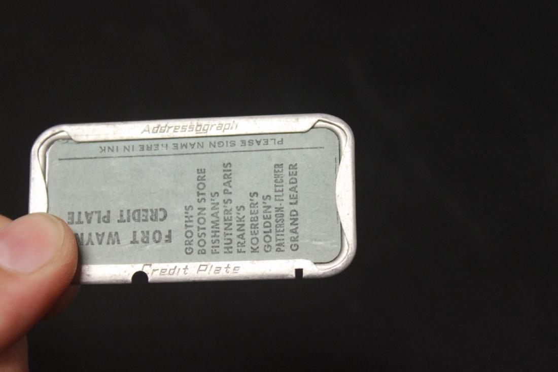 A Fort Wayne Credit Plate - 2