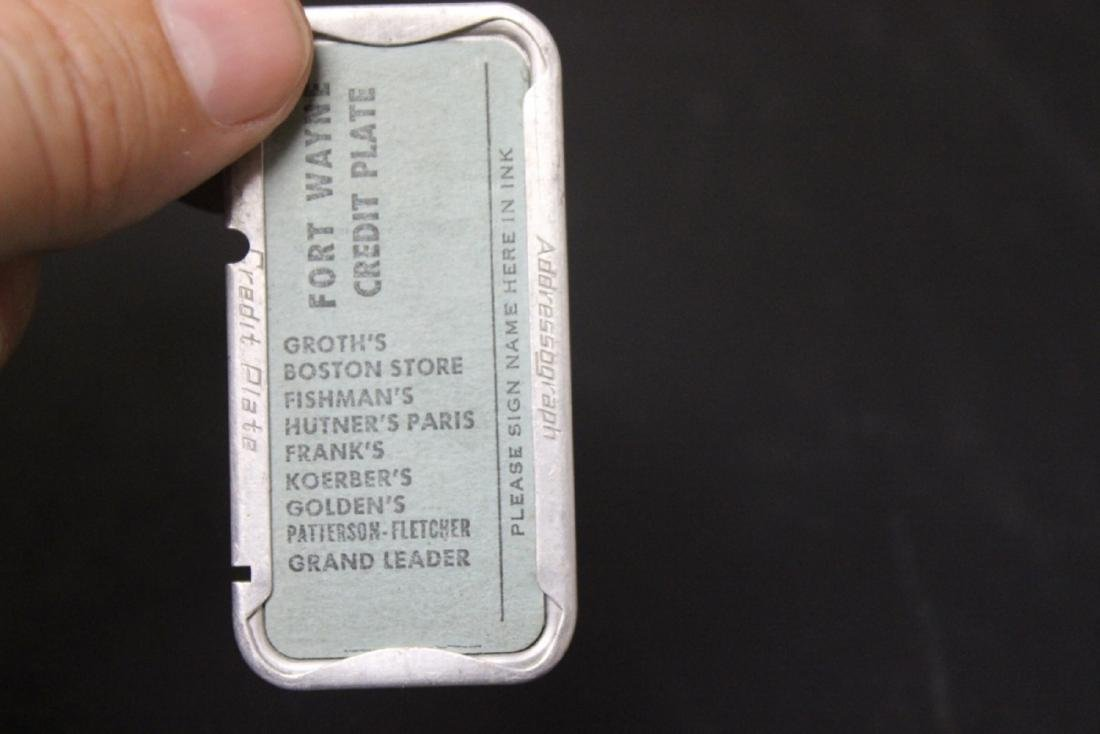 A Fort Wayne Credit Plate - 3