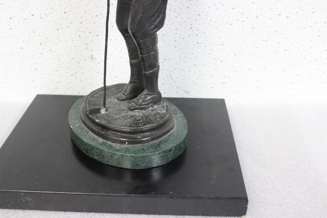 A Bronze Golfer Statue on Marble Base - 4