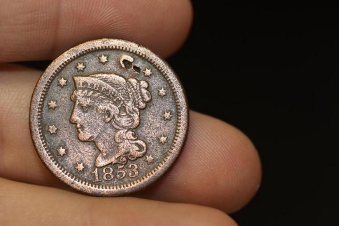 An 1853 Large Cent