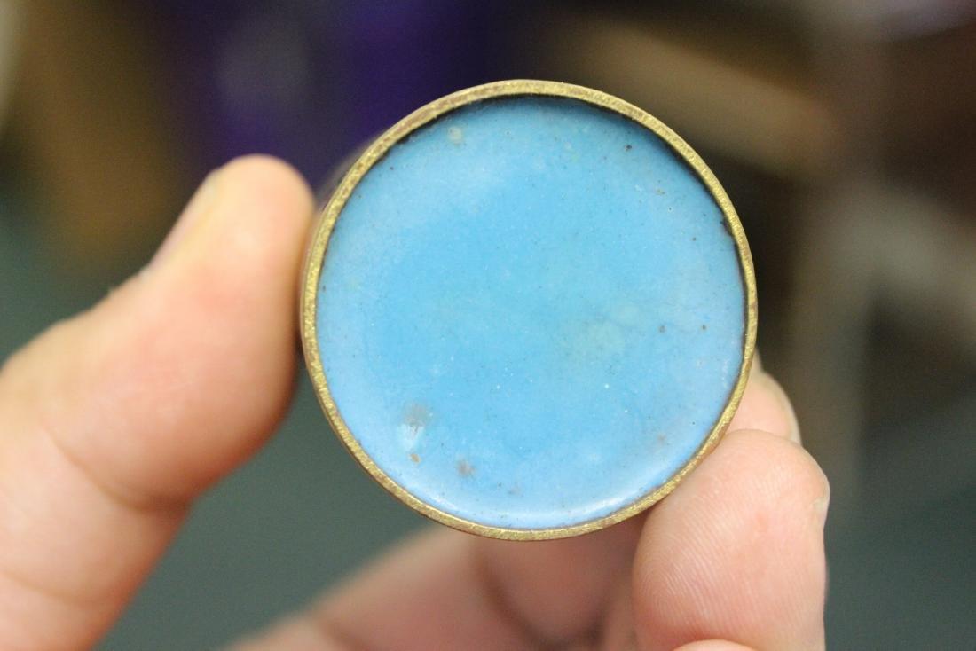 A Vintage Chinese Cloisonne Cylinder Trinket Box - 6