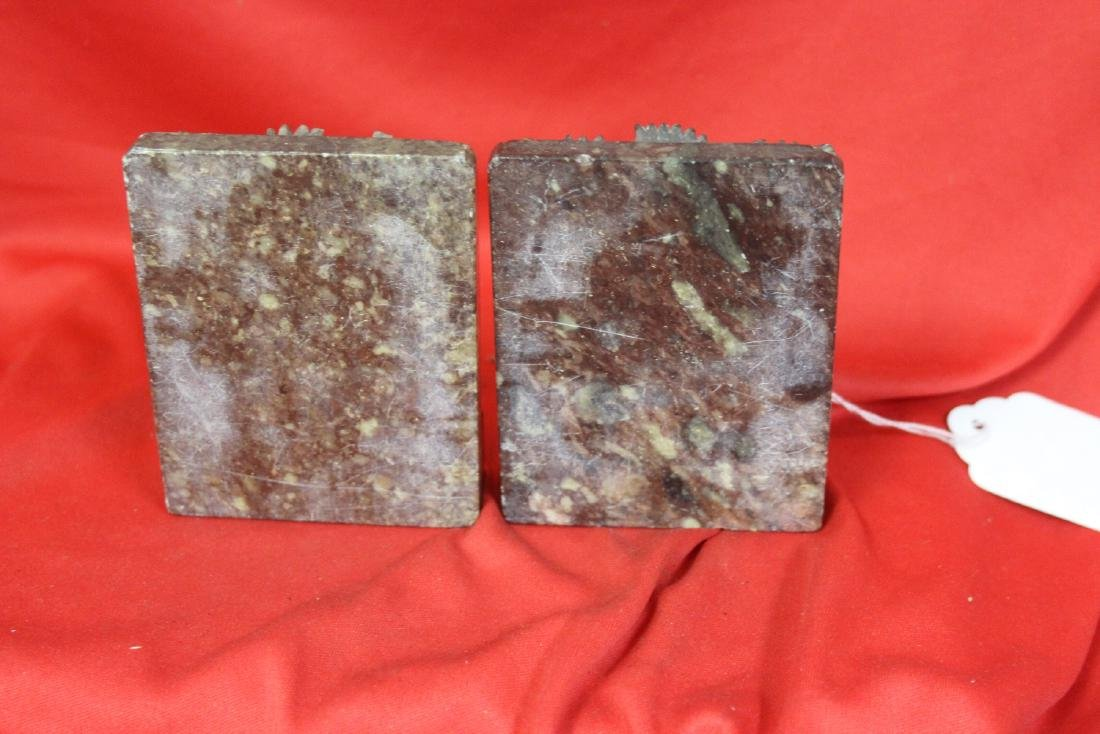 A Pair of Soap Stone Bookends - 3