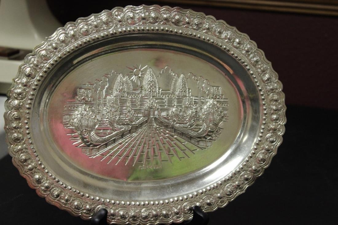 A Decorative Silverplate Wall Hanger