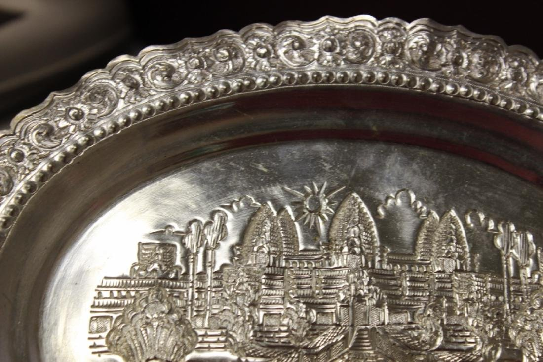 A Decorative Silverplate Wall Hanger - 2