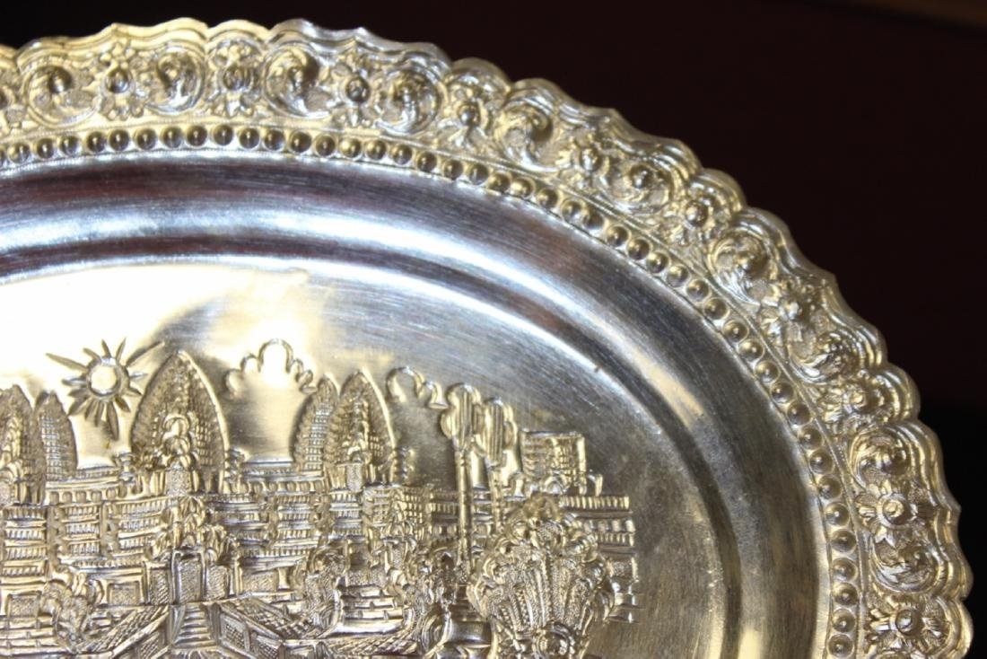 A Decorative Silverplate Wall Hanger - 3