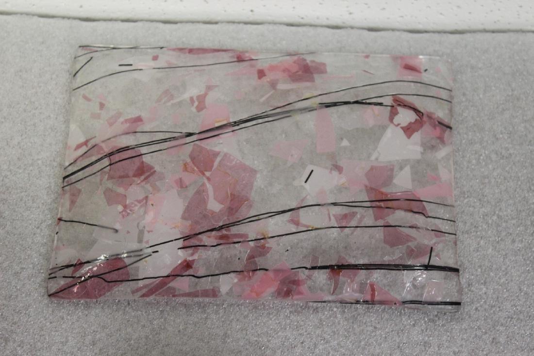 An Art Glass Tray - 2