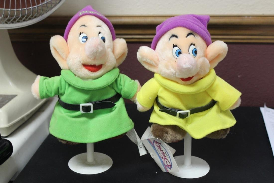 2 Stuffed Dopey Dolls on Stand by Disney