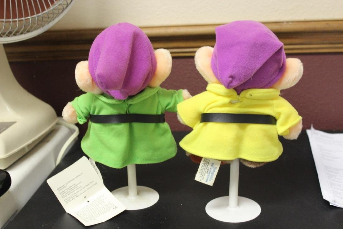 2 Stuffed Dopey Dolls on Stand by Disney - 3