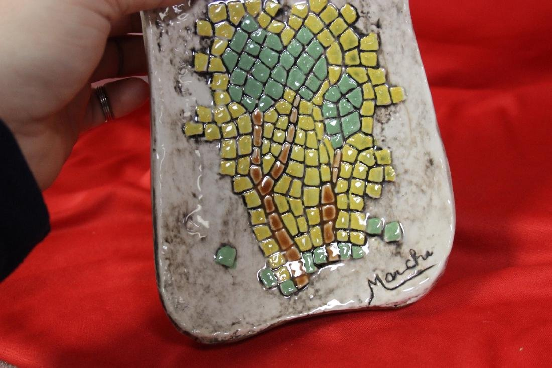 A Signed Retro Mosaic Style Ashtray - 5