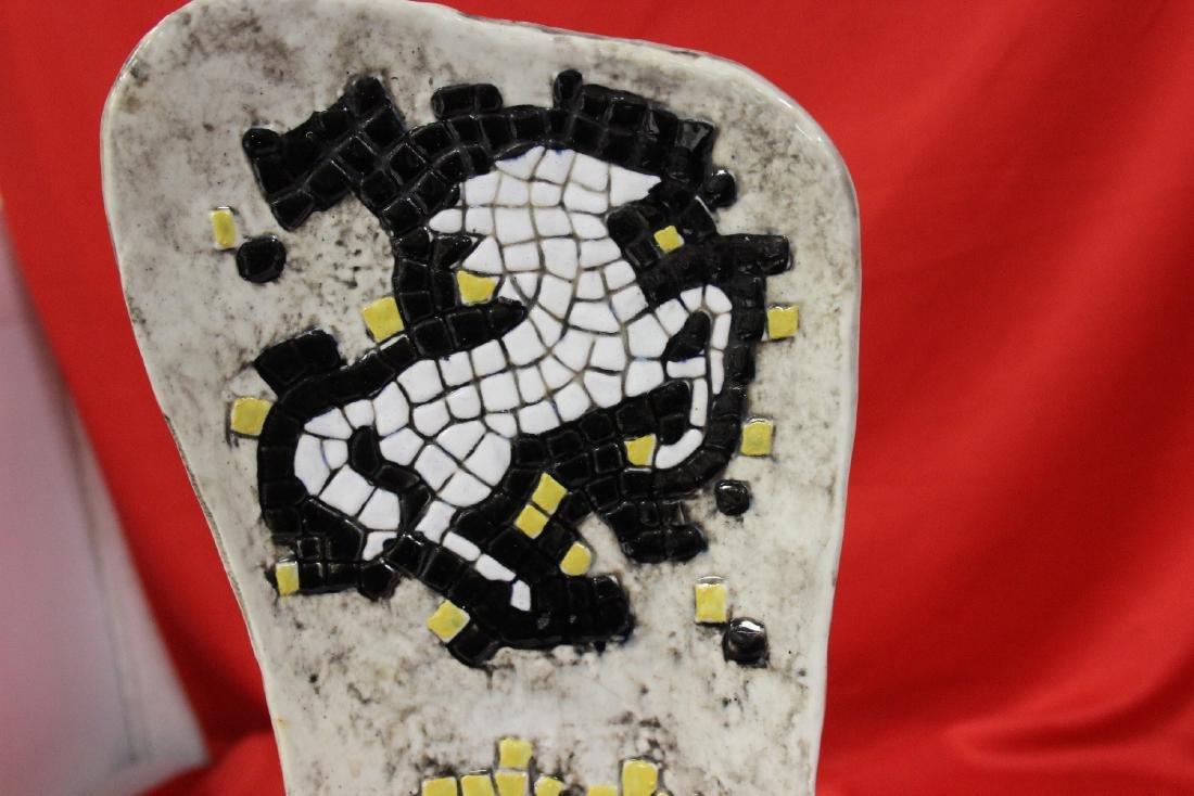 A Signed Retro Mosaic Style Ashtray - 6
