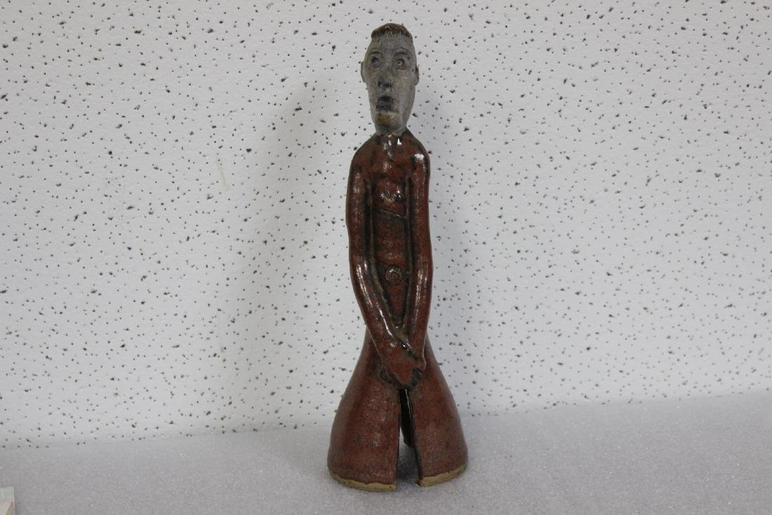 A Signed BG Pottery Figure - 2