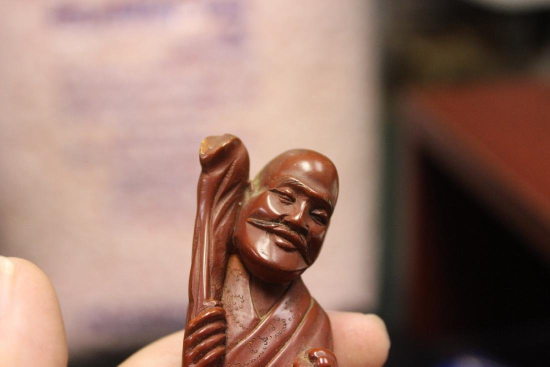 An Antique or Vintage Chinese Wooden Sage - 3