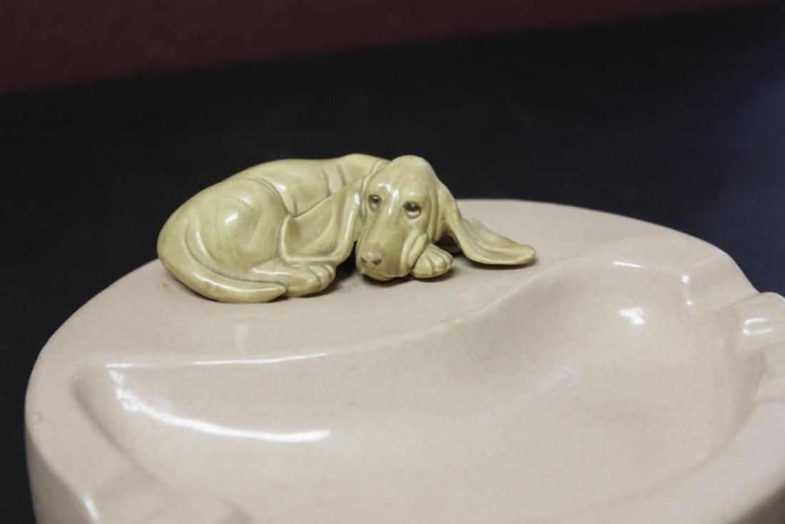 A Retro Pottery Ashtray With Dog - 2