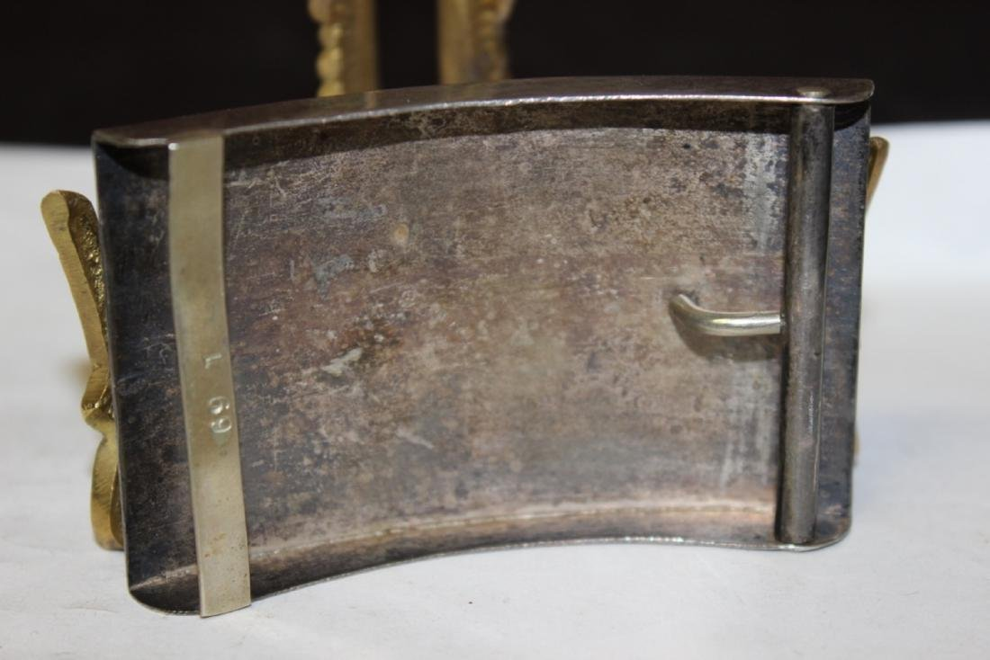A Sterling and Torquoise inlaid Belt Buckle - 4