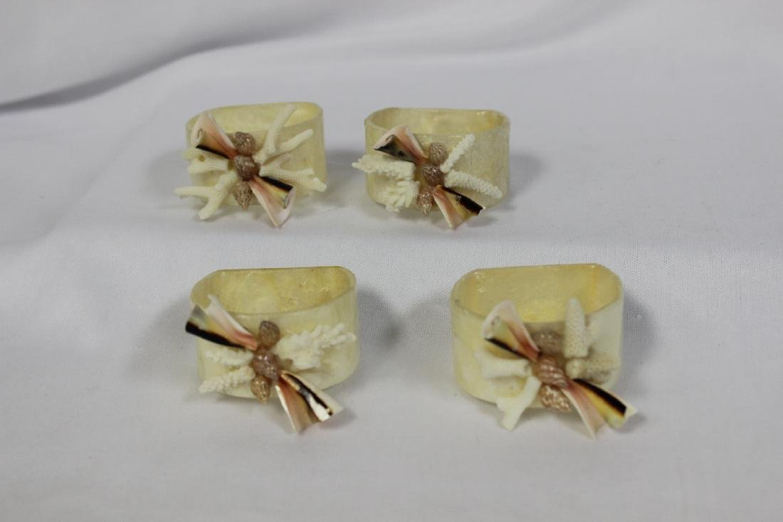 Set of 4 Mother of Pearl Napkin Rings