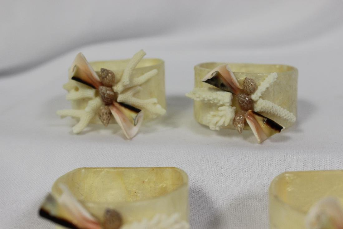 Set of 4 Mother of Pearl Napkin Rings - 3