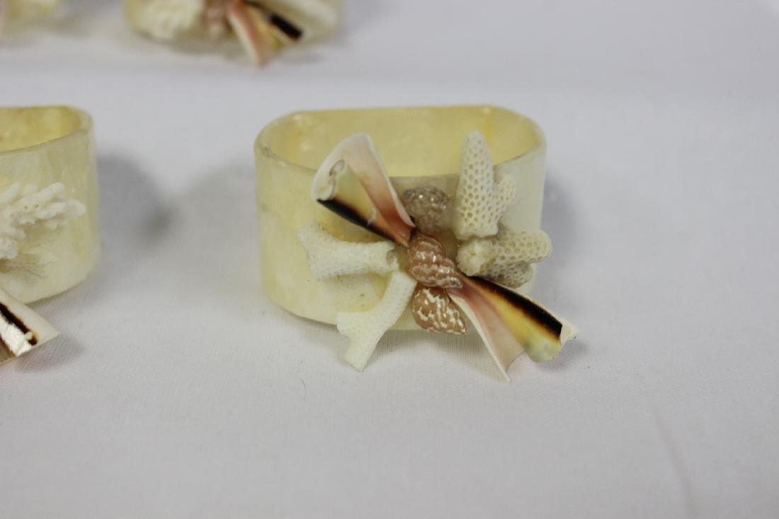 Set of 4 Mother of Pearl Napkin Rings - 4