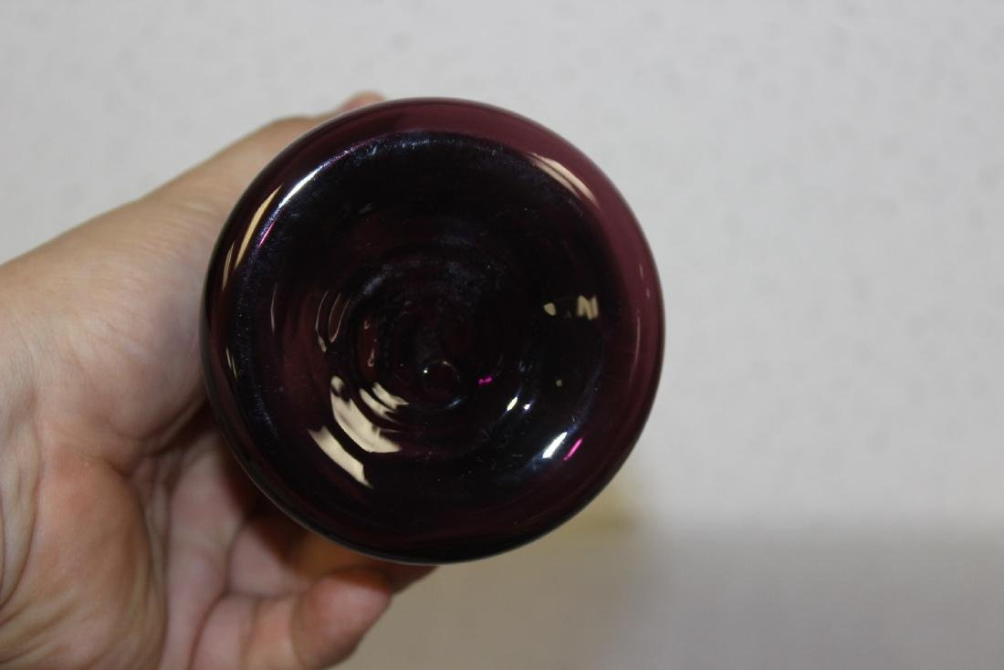 A Vintage Amethyst and Glass Vase - 5