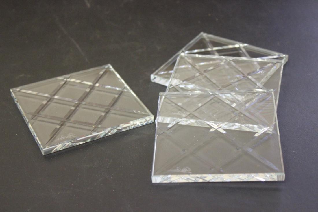 Lot of 4 Cut Glass Coasters (?)
