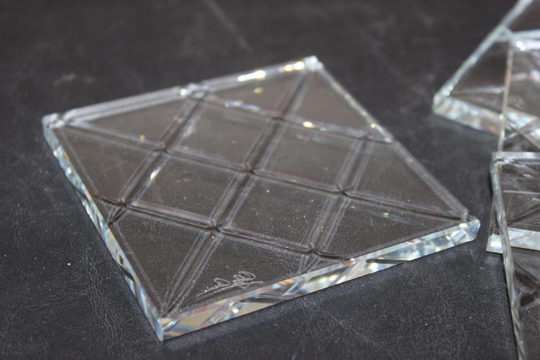 Lot of 4 Cut Glass Coasters (?) - 2