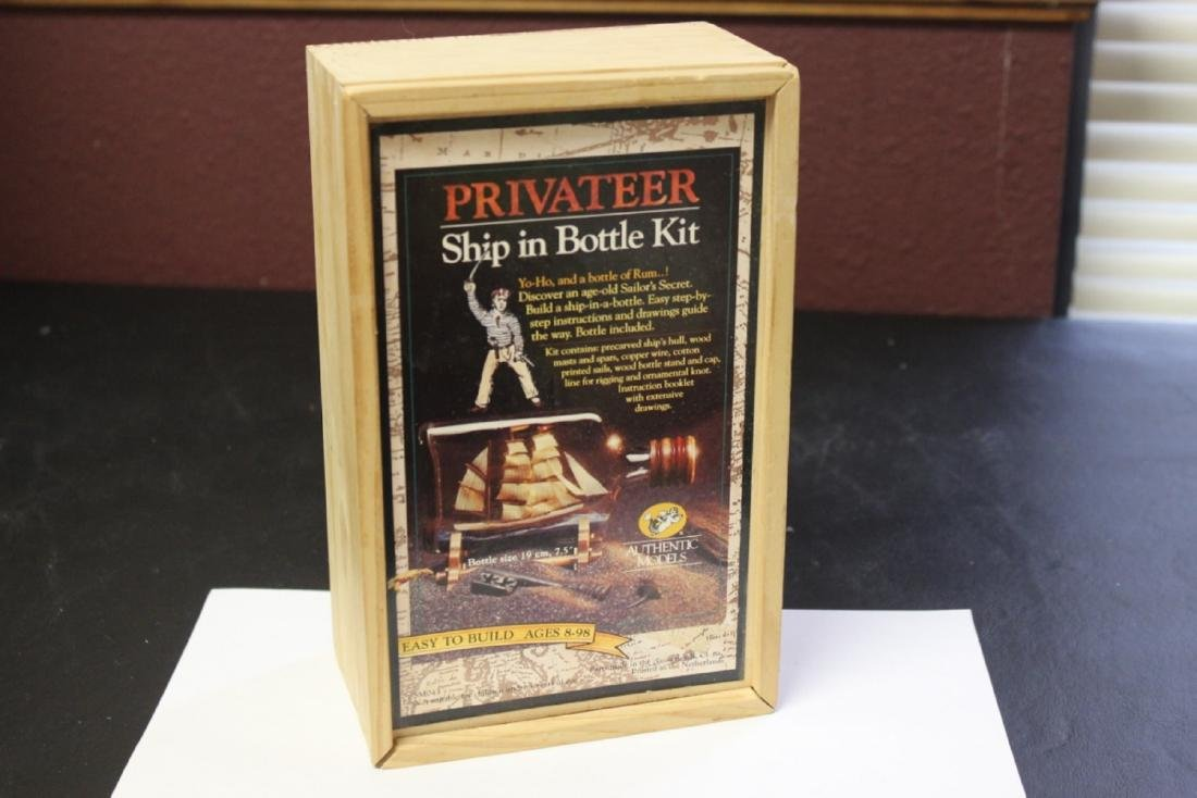 A Privateer Ship in a Bottle Kit