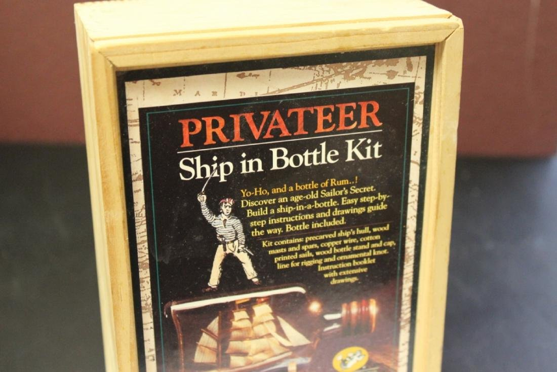 A Privateer Ship in a Bottle Kit - 2