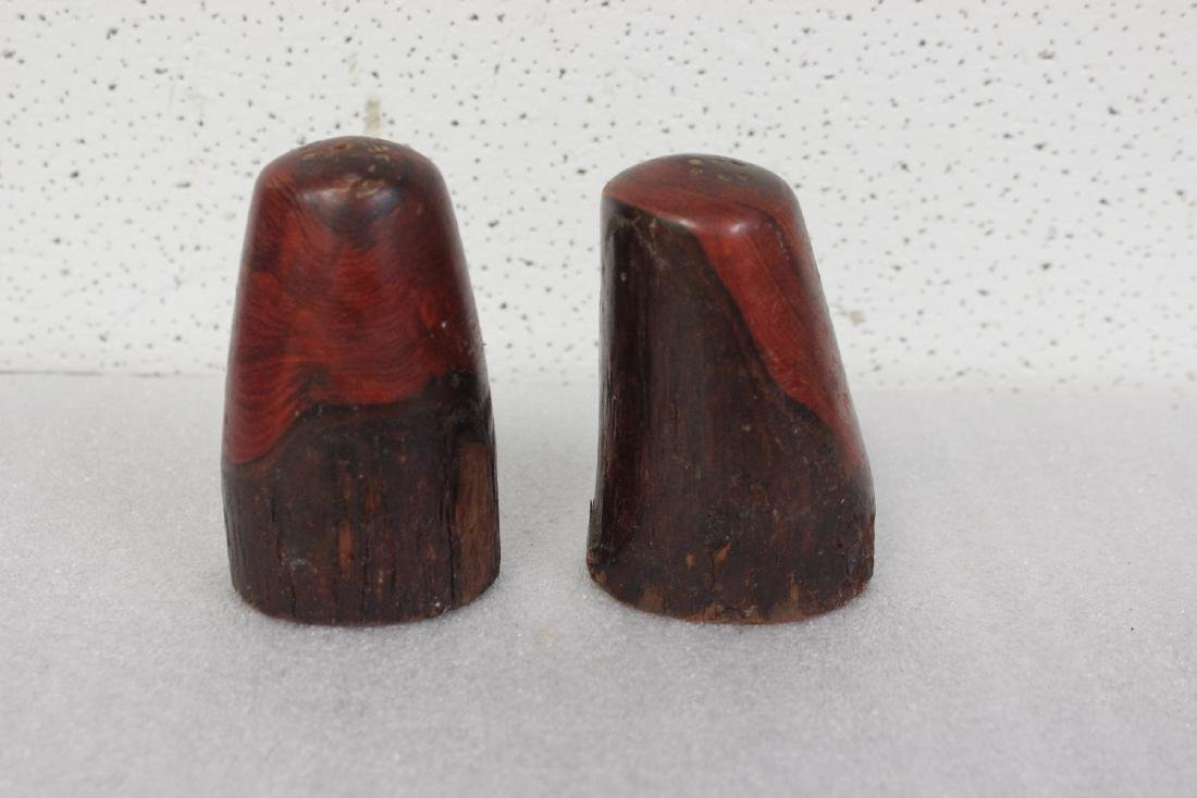 Pair of Wooden Salt and Pepper Shakers