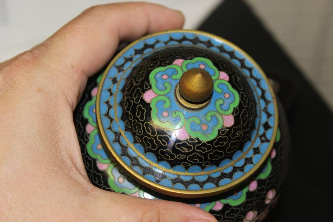 A Cloisonne Jar - Chinese - 7