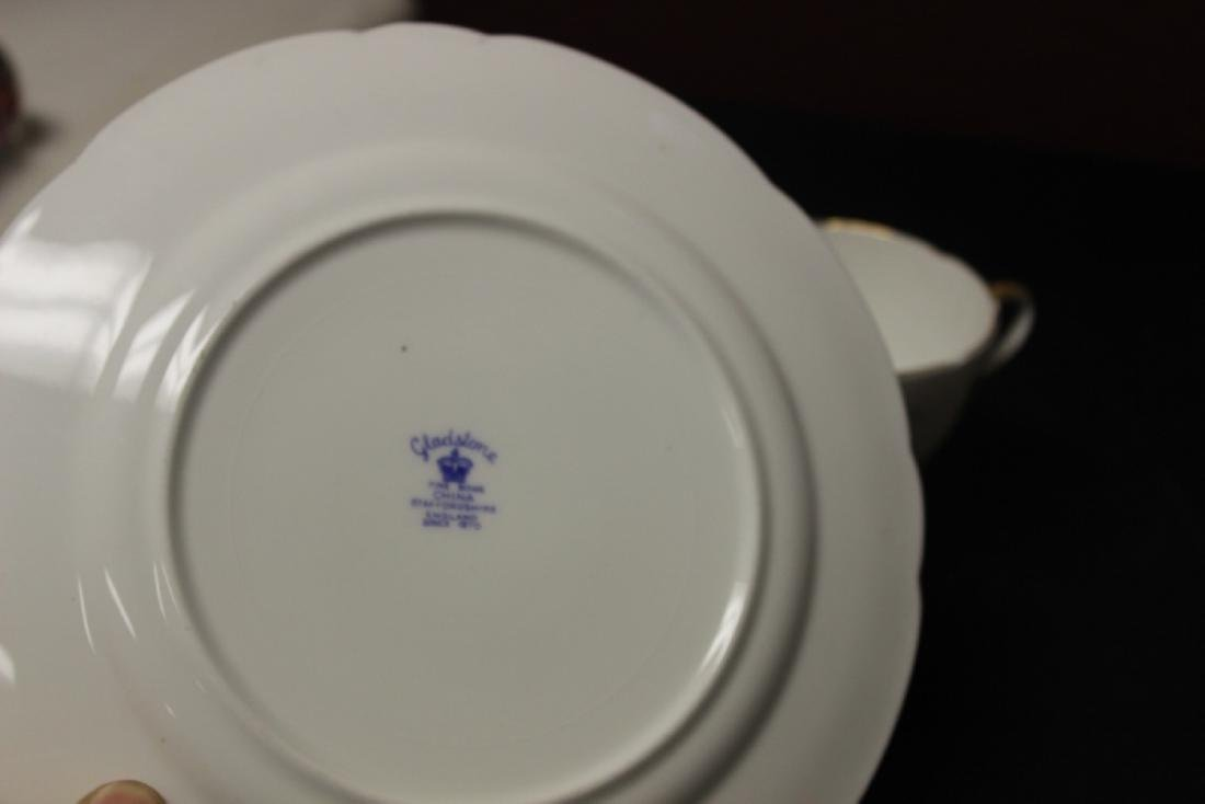 A Set of 3 Golden Wedding Staffordshire Cup and Saucer - 10