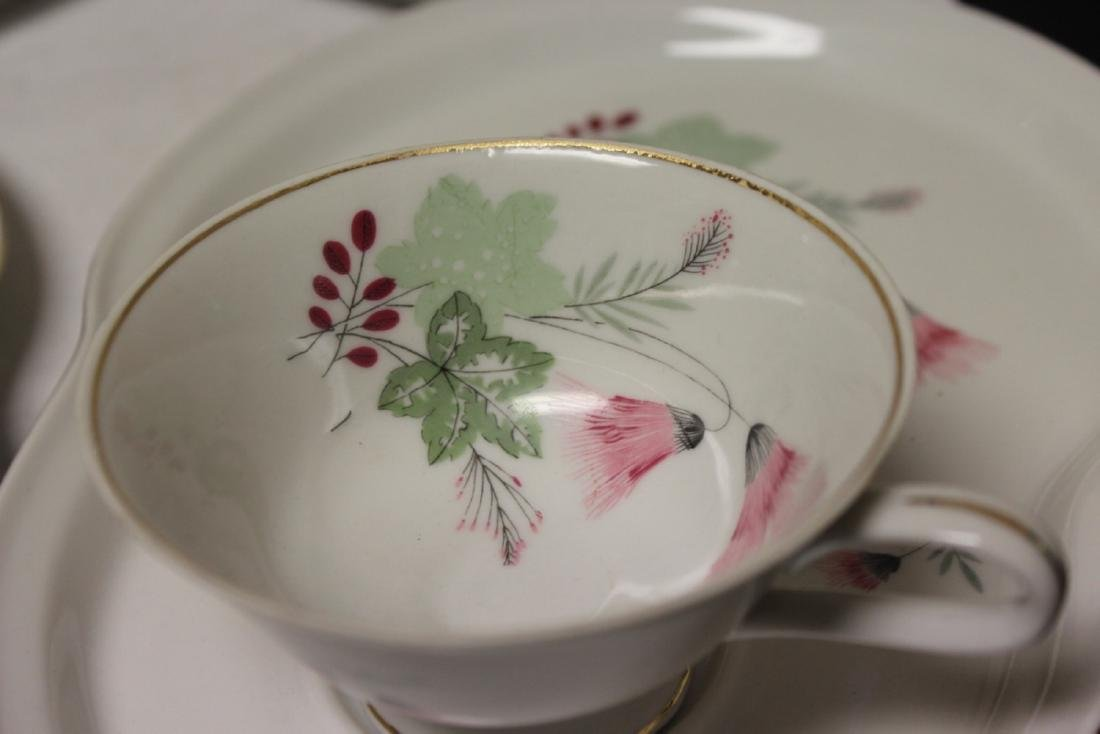 Set of Four Cups and Plates - 3