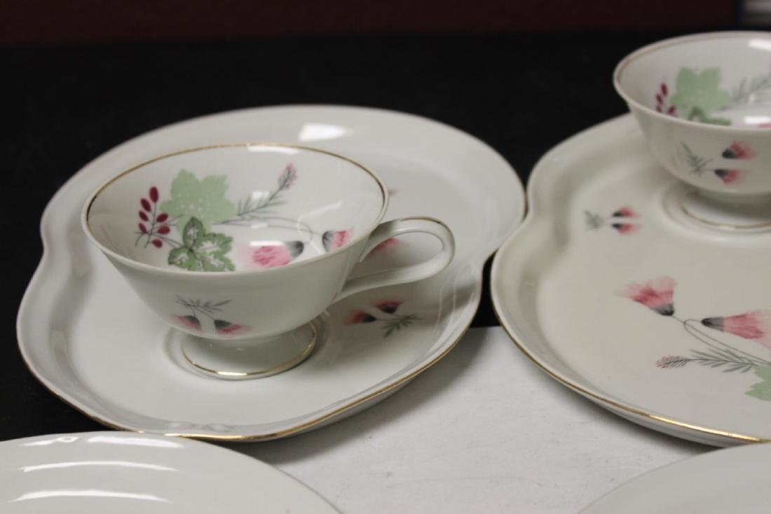 Set of Four Cups and Plates - 4