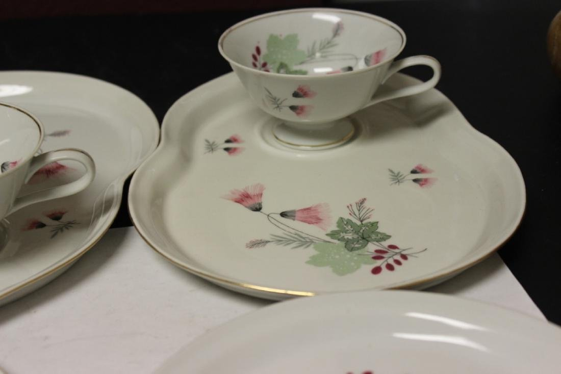 Set of Four Cups and Plates - 5