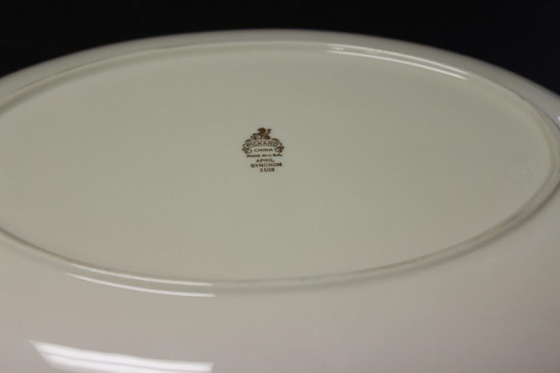 A Pickard Syncron China Oval Bowl or Plate - 5