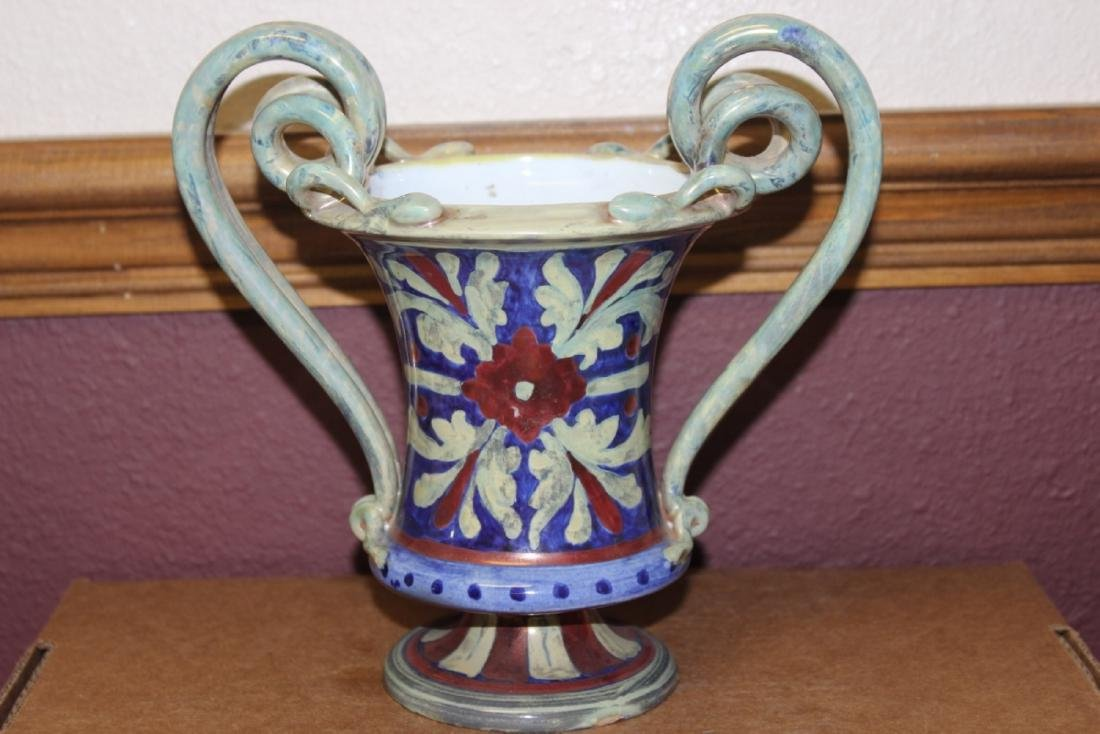 An A.R. Majolica Style Urn