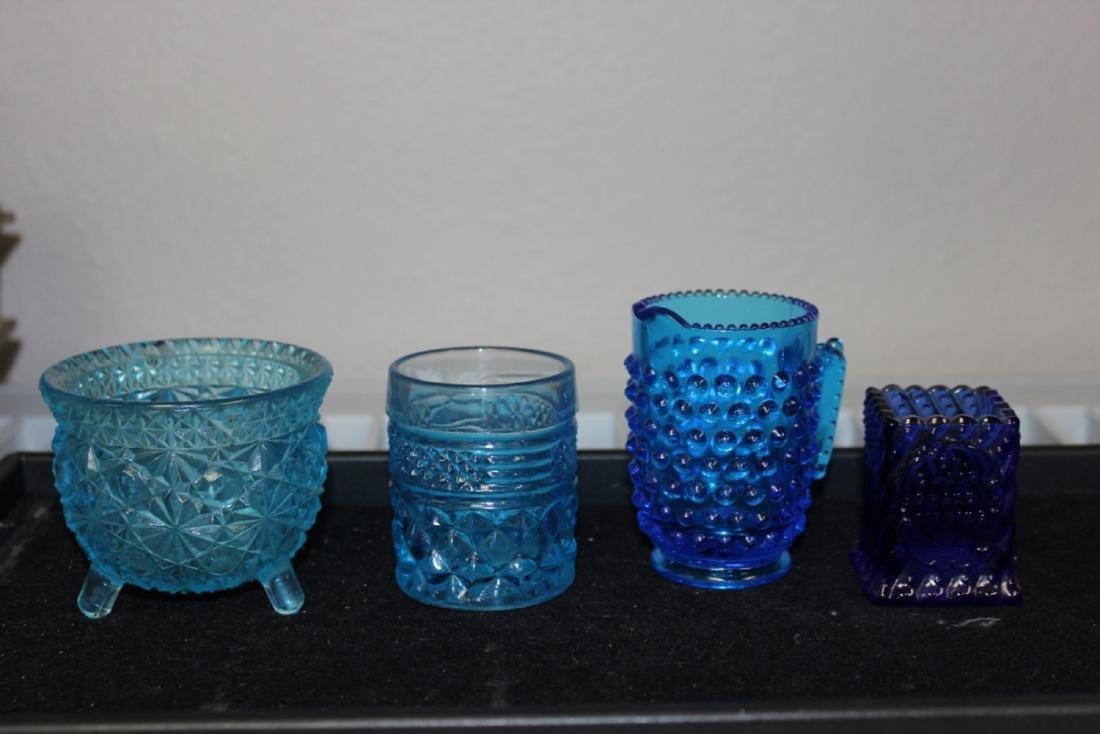 Lot of 4 Miniature Blue Grass Articles