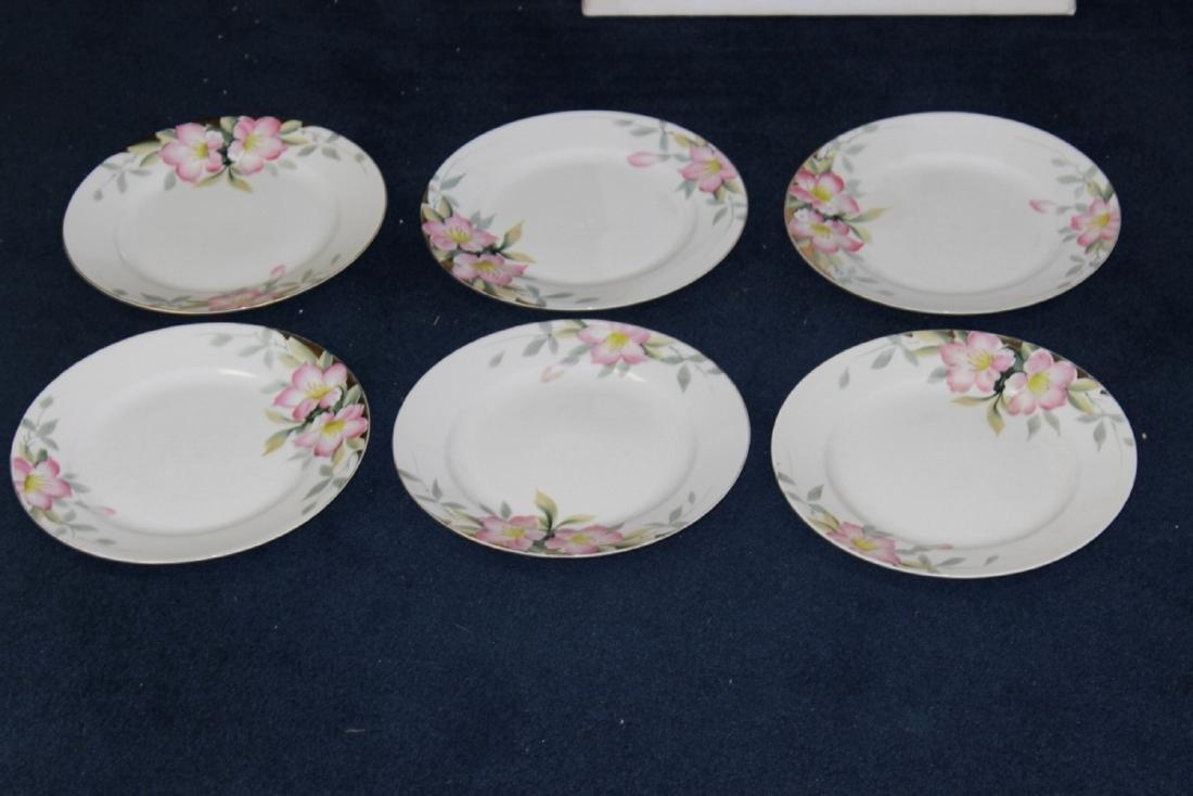 Lot of 6 Noritake Azalea Pattern Dinner Plates