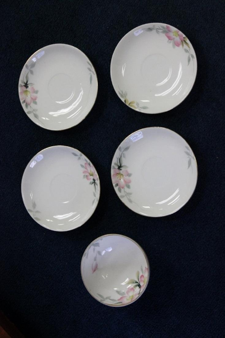 A Whip Cream Bowl and 4 Saucers - Noritake Azalea