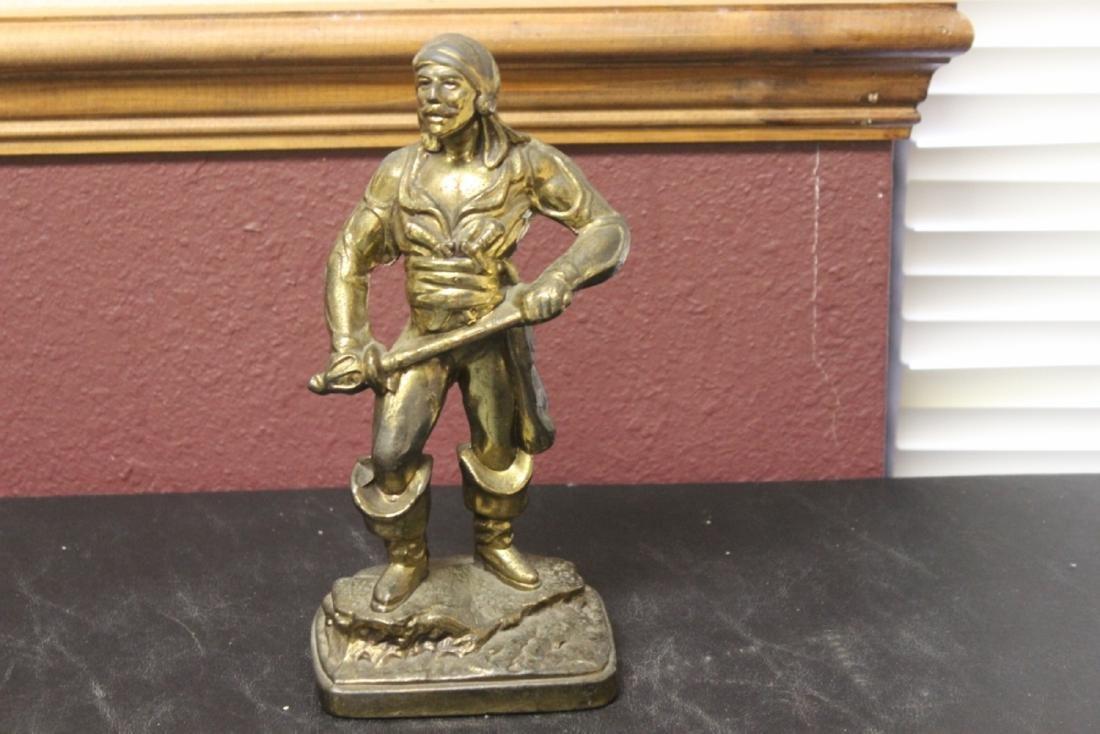 A Metal Pirate Statue