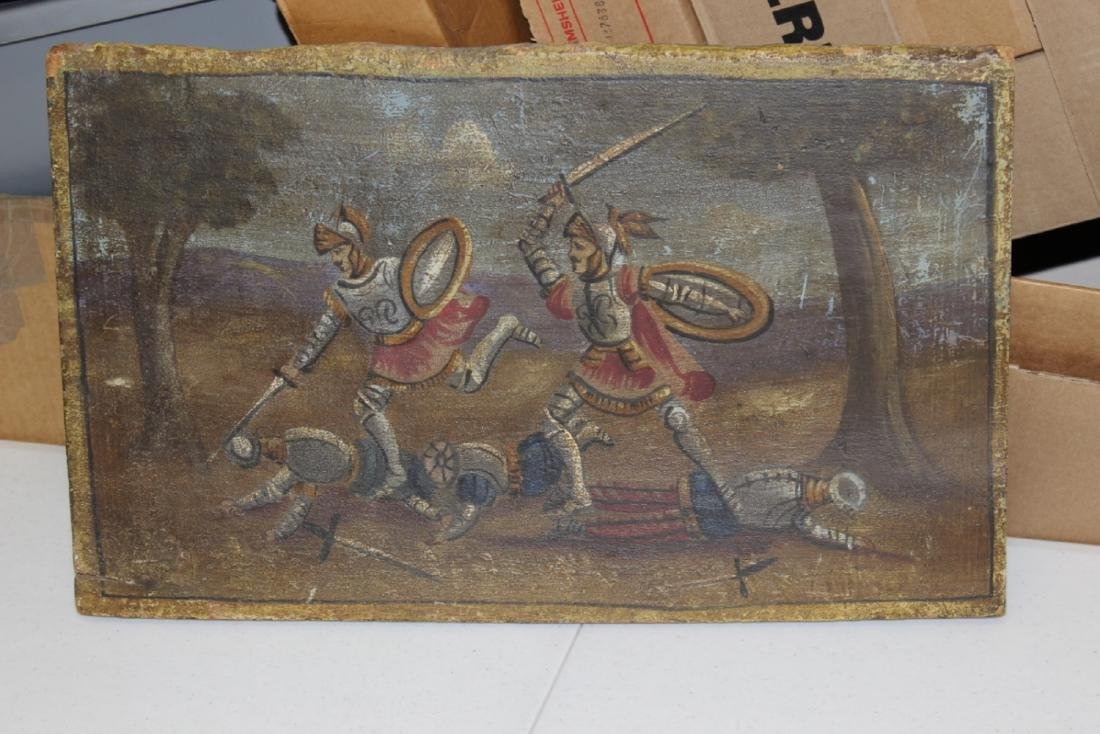 An Antique Painting on Wood Panel