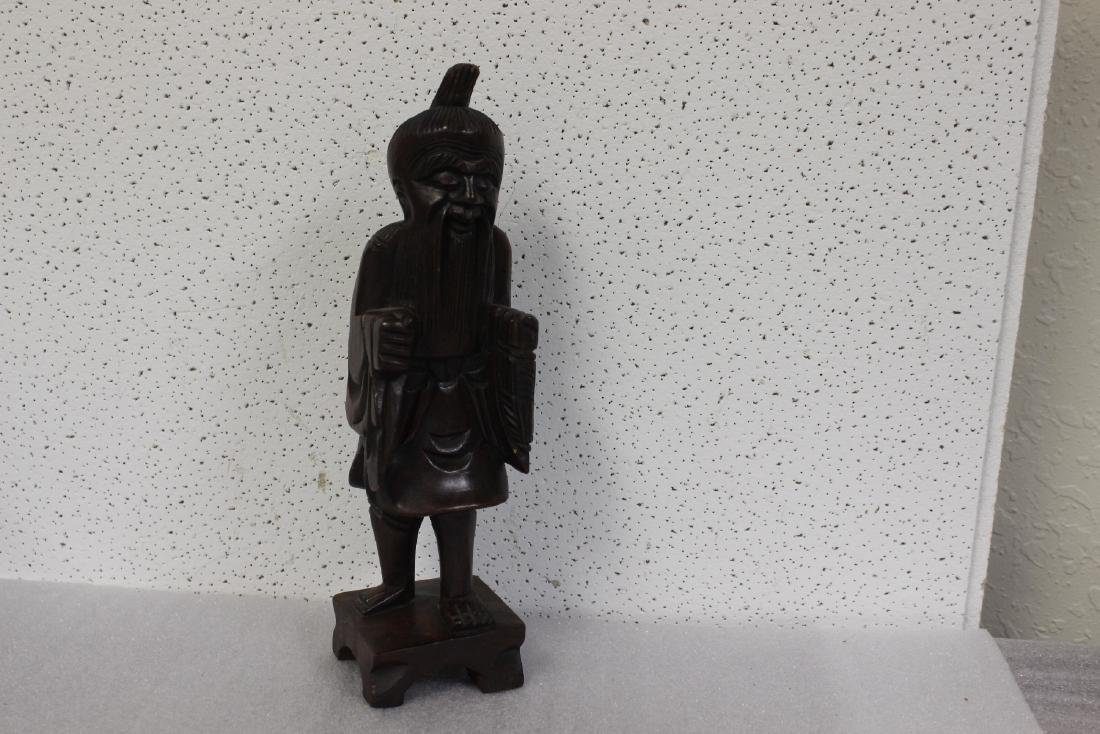 A Chinese Wooden Figure