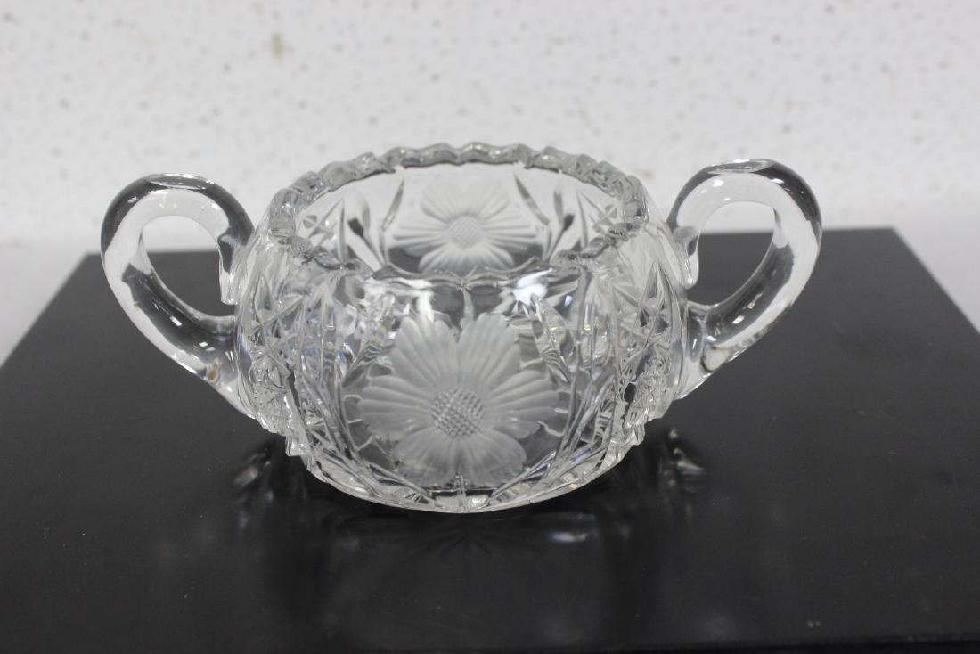 A Glass Sugar Bowl