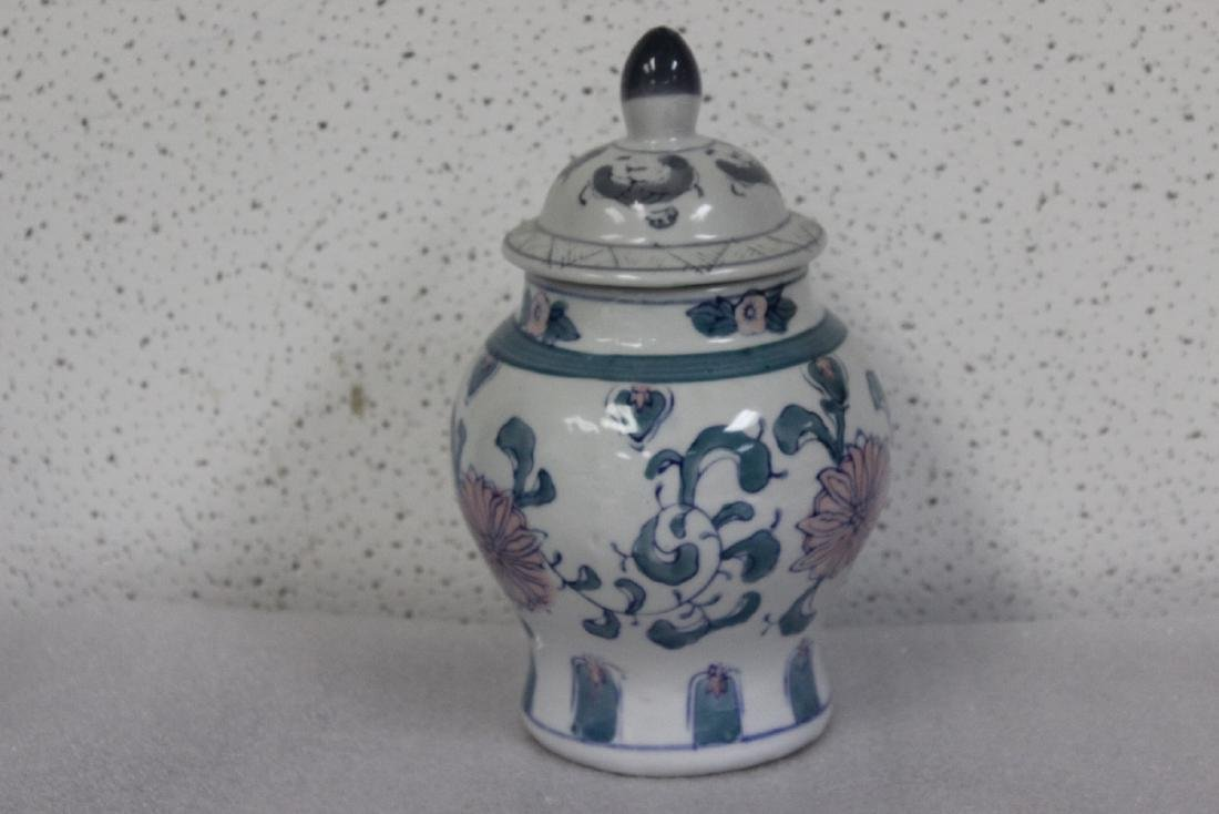 A Decorative Chinese Ceramic Ginger Jar