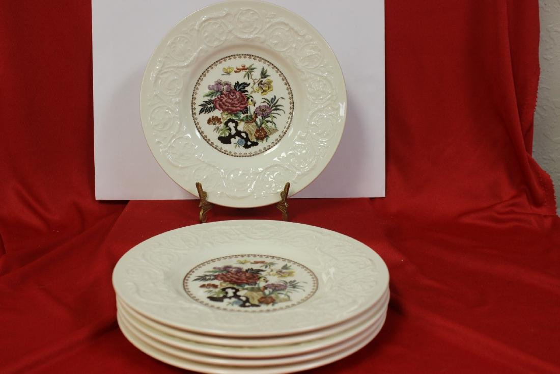 Set of 6 Wedgwood Bulfinch Plate