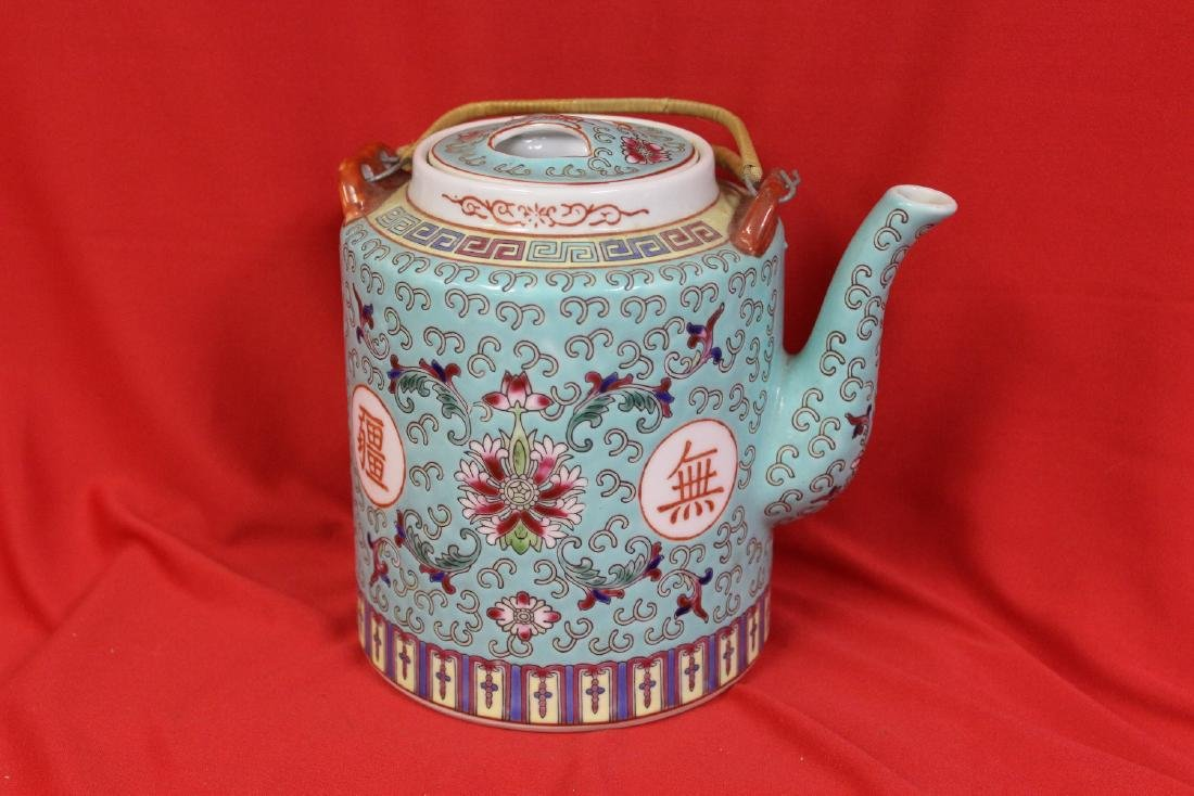A Vintage Chinese Famille Verte Teapot