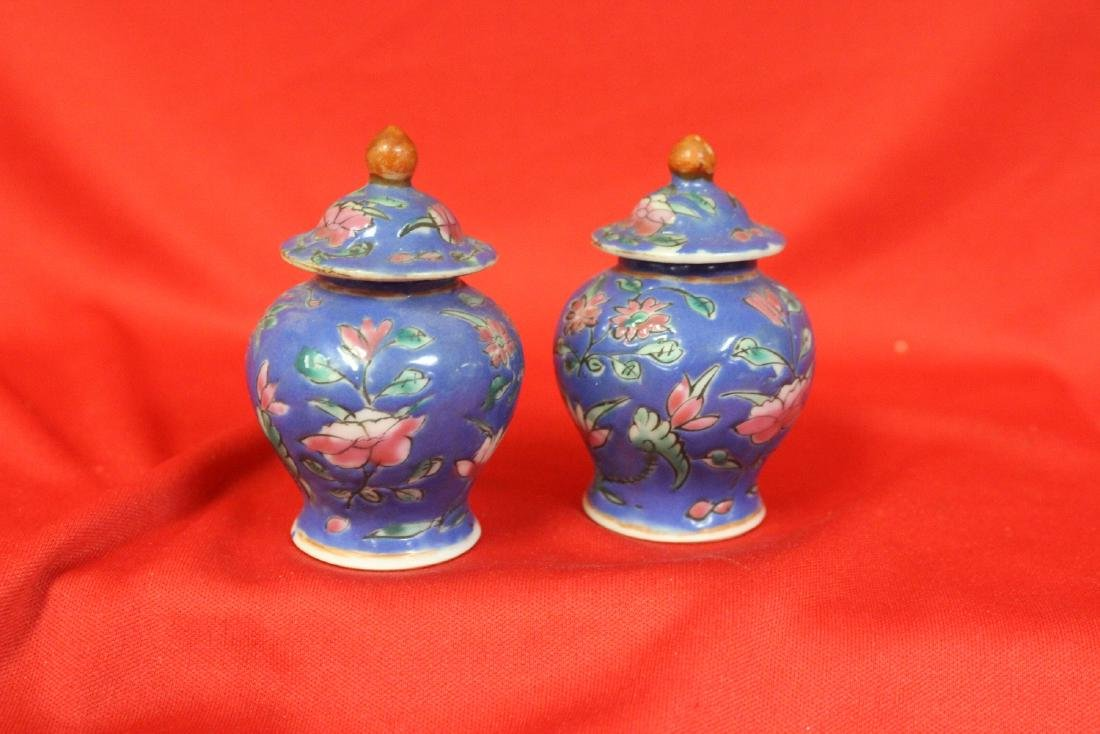 A Pair of Vintage Chinese Miniature Ginger Jar