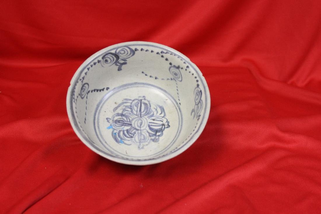 An Antique Blue and White Chinese Shipwreck Bowl