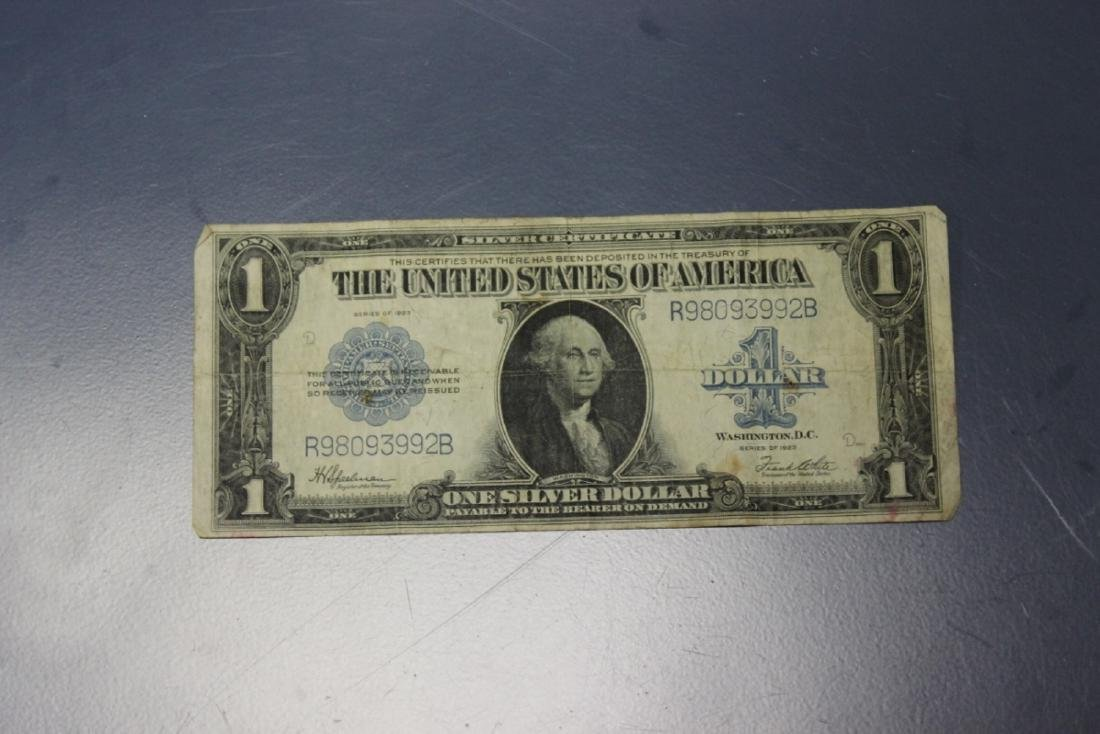 A 1923 One Dollar Silver Certificate
