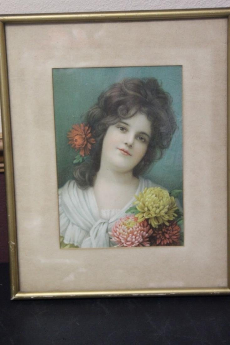 An Antique Victorian Print of a Girl
