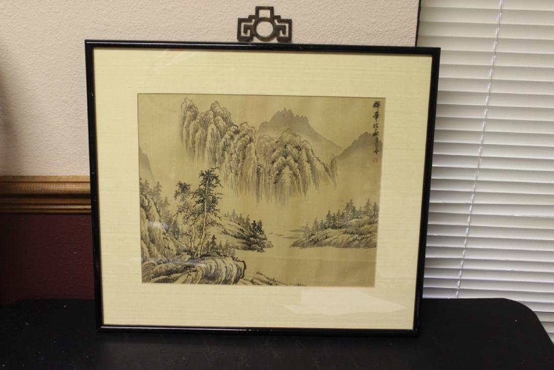 A Chinese Watercolor on Silk